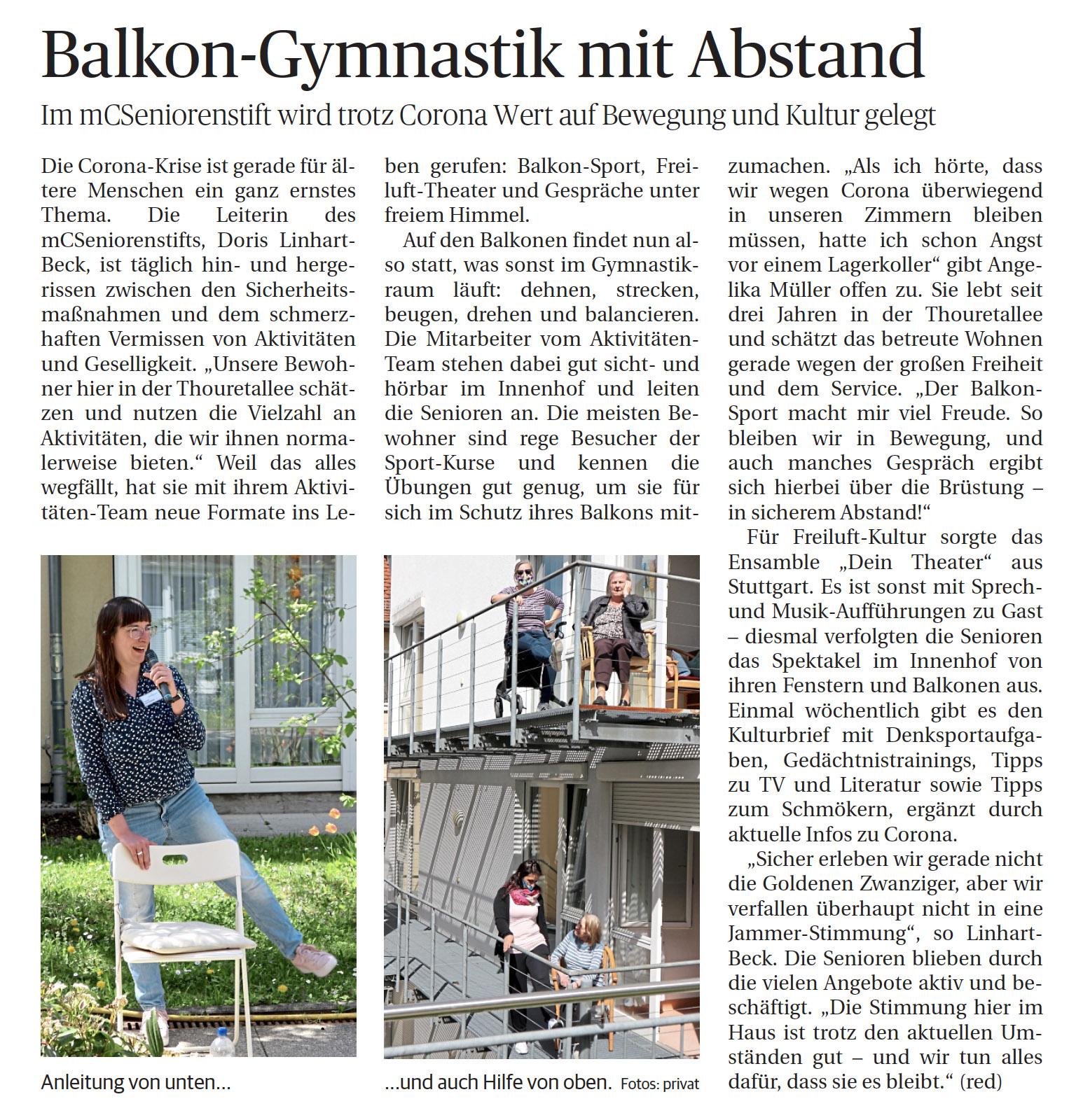 Seniorenstift Ludwigsburg LKZ Beitrag